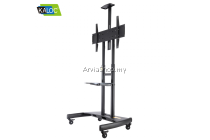 Kaloc Mobile TV Stand with Wheels Rolling TV Cart for 55 to 85 Inch  - TS180-BLK
