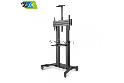 Kaloc Height Adjustable Multimedia Carts TV Mounts for 50-80inch  - TS191-BLK