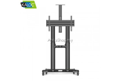Kaloc Height Adjustable Multimedia Carts TV Mounts for 45-70 inch  - TS191-BLK