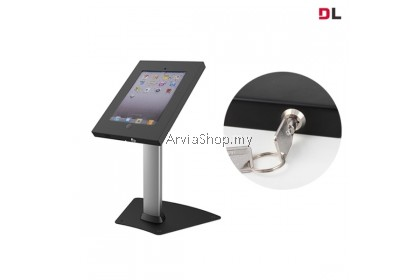 Brateck  Anti-Theft Metal iPad Desk Stand with Lock - TSPAD12-04AL-BLK