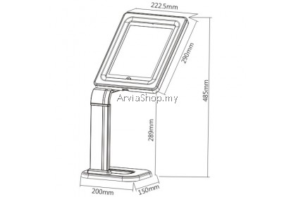 Brateck  Universal Anti-Theft Tablet Desk Stand Up to 9.7 inches-10.1 inches - TSPAD15-03-WHT