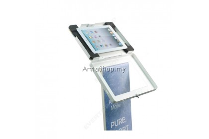 Floor Standing Tablet Security Stand with Lock for iPad/Android Tablet Kiosk Display Stand LSF08-BLK