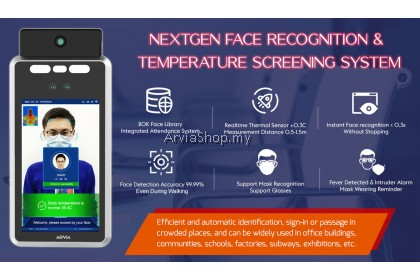 7″ Temperature Scanner with Built-In Facial Recognition Terminal with stand