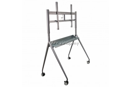 """Adjustable Crank Mobile Stand from 60"""" to 75"""" - YU-T65-WH"""
